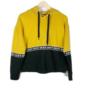 DKNY sport Black And Yellow Hoodie Size Small